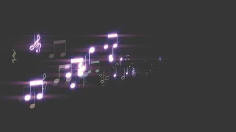 音符が全画面で CG動画素材