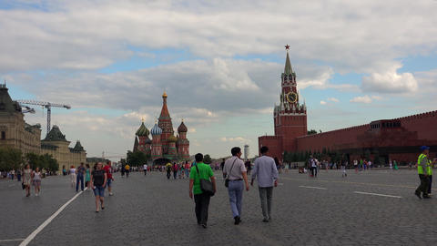 Red Square in Moscow. The main attraction of Russia. 4K Footage