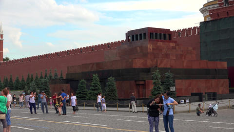 Lenin's Mausoleum. Red Square, Moscow. 4K Footage