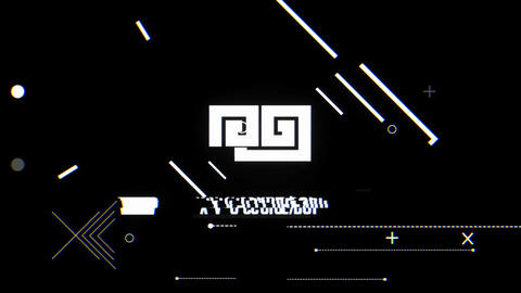 Dark Futuristic Glitch Logo After Effects Template