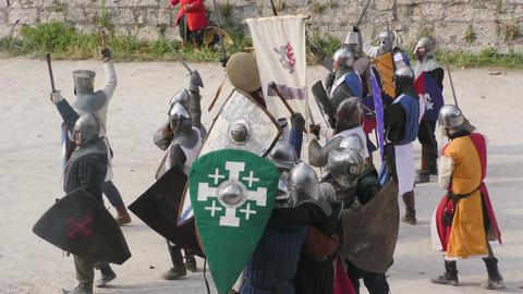medieval battle assault win Footage