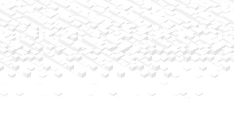 Cube box 3D virtual isometric shuffle wave pattern, Blockchain technology concept design Animation