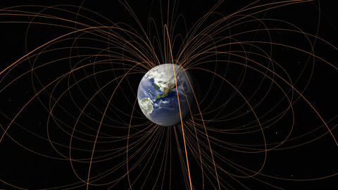 Earth magnetic field animation Animation