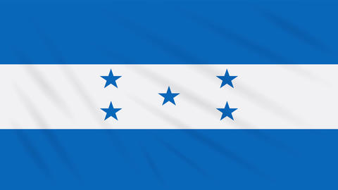 Honduras flag waving cloth, background loop Animation