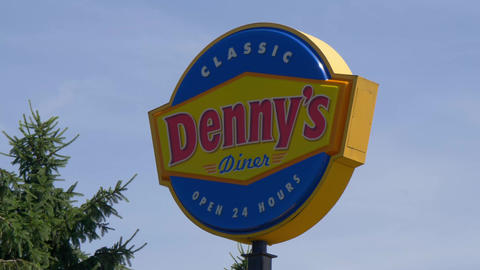 Dennys American Diner restaurant - LOUISVILLE, USA - JUNE 14, 2019 Live Action