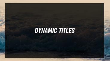 Dynamic Titles After Effects Template
