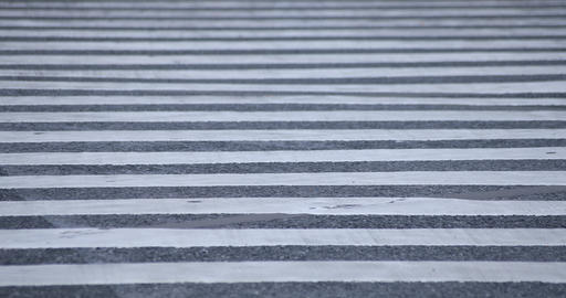Legs of walking people at the crossing in Shibuya Tokyo rainy day ビデオ