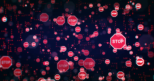Stop Sign Background Animation