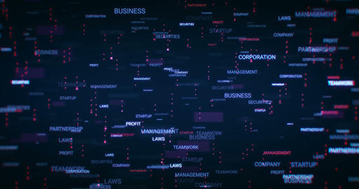 Business Words Background Animation