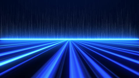 Digital Highway Blue Lines Background Animation
