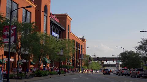 Famous landmark in St. Louis - Bush stadium for the Cardinals- SAINT LOUIS, USA Live Action