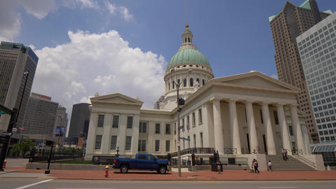 Old Courthouse St. Louis- SAINT LOUIS, USA - JUNE 19, 2019 Footage