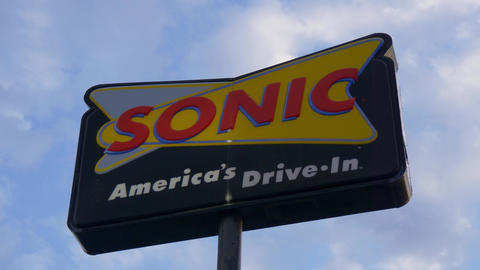 Sonic American Drive In Fast food- FRANKFORT, KENTUCKY - JUNE 18, 2019 Live Action