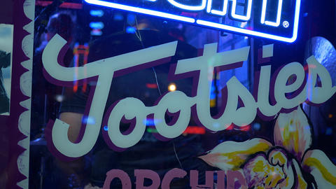 Famous Tootsies Bar and Orchid Lounge in Nashville - NASHVILLE, UNITED STATES - Footage