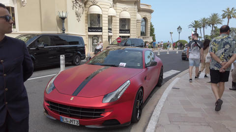 Luxury Red Ferrari FF Novitec Rosso Footage