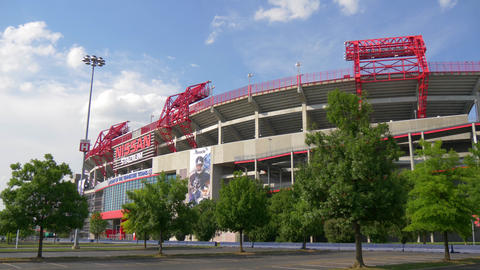 Famous landmark in Nashville - the Nissan Stadium - NASHVILLE, UNITED STATES - Live Action