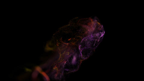 Abstract background of fluid particles.On beatiful relaxing Background Live Action