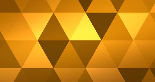 abstract yellow geometric multicolor triangles pattern with seamless transition color movement Footage