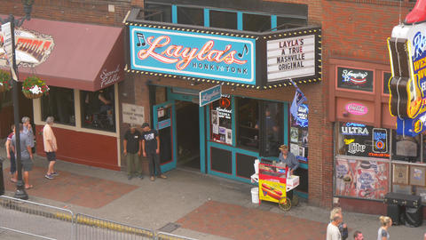 Laylas Honky Tonk Saloon in Nashville is a famous place - NASHVILLE, UNITED Live Action