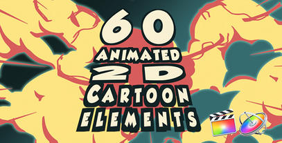2D Cartoon FX for Motion & Final Cut X Plantilla de Apple Motion