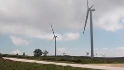 Wind power turbines Footage