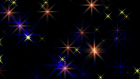 Beautiful Multicolored Stars Flickering Blinking Background Animation