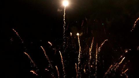 Multiple fireworks explosions Image