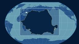Romania - 3D tube zoom (Kavrayskiy VII projection). Solids Animation