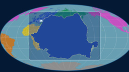 Romania - 3D tube zoom (Mollweide projection). Continents Animation