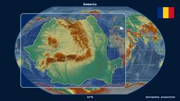 Romania - 3D tube zoom (Kavrayskiy VII projection) Animation