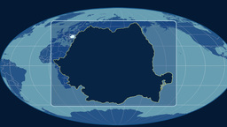 Romania - 3D tube zoom (Mollweide projection). Solids Animation