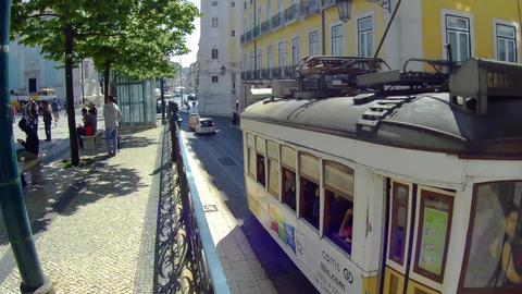 Lisbon chiado Tram Footage