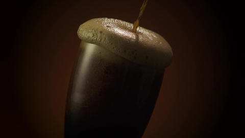Guinnesse Beer Pouring Over Footage