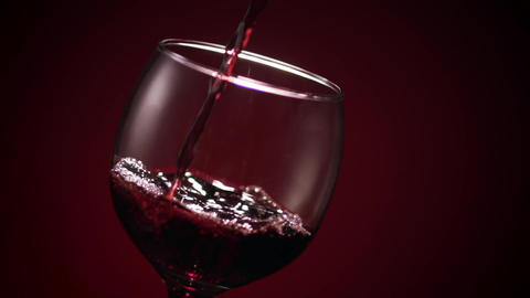 Red Wine Glass Pour Sharp Footage