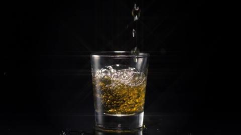 Whiskey Shot Star Filter Footage