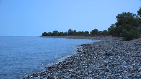 Sea coast. 4K Footage