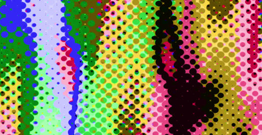 Pixellated Cartoon Colored Dots Blades Changing Movements Background Animation
