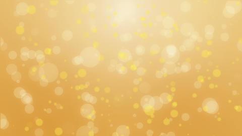 Orange yellow bokeh particle background Animation