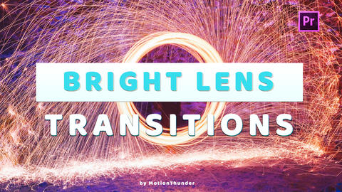 Bright Lens Transitions Premiere Pro Template