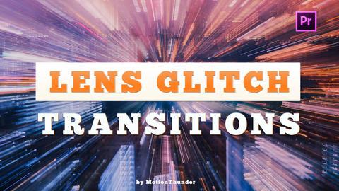 Lens Glitch Transitions Premiere Pro Template