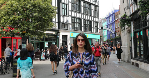 People Walking On Carnaby Street Footage