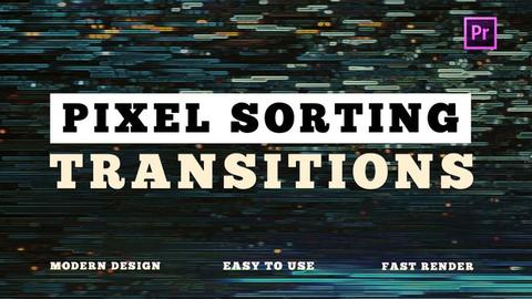 Pixel Sorting Transitions Premiere Pro Template