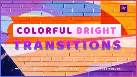 Colorful Bright Transitions Premiere Pro Template