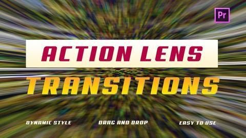 Action Lens Transitions Premiere Pro Template