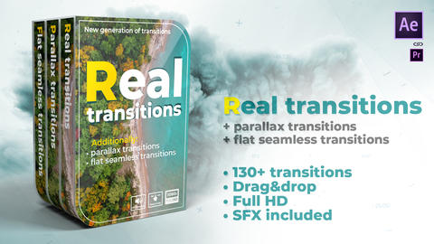 Real transitions After Effects Template