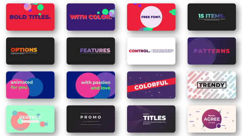 Bold Colorful Titles After Effects Template