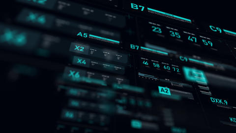 Futuristic user interface HUD GUI digital text number element for cyber technology concept with Animation