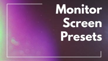 Monitor Screen Presets Premiere Pro Effect Preset