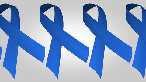 Parkinson's disease awareness blue ribbons. Loopable motion background Footage
