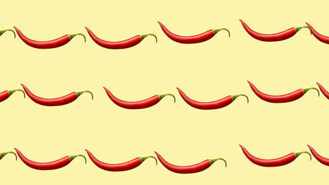 Minimal motion design Chili pepper animation Stock Video Footage